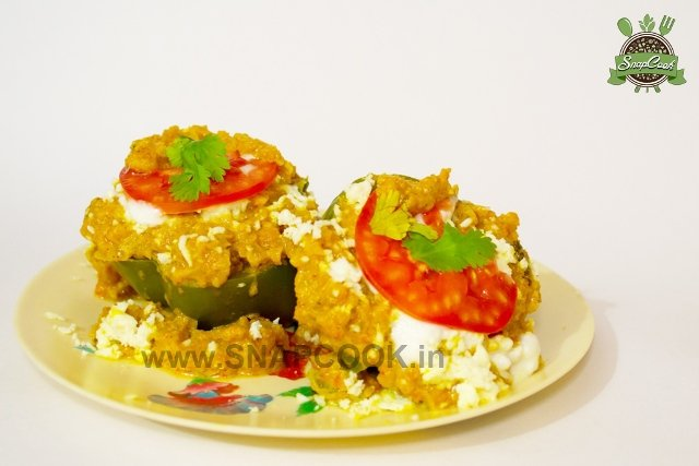 Bharwa Shimla Mirch | Stuffed Capsicum Curry